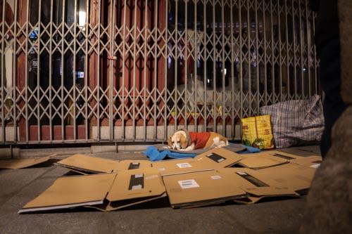 Obdachlose Madrid